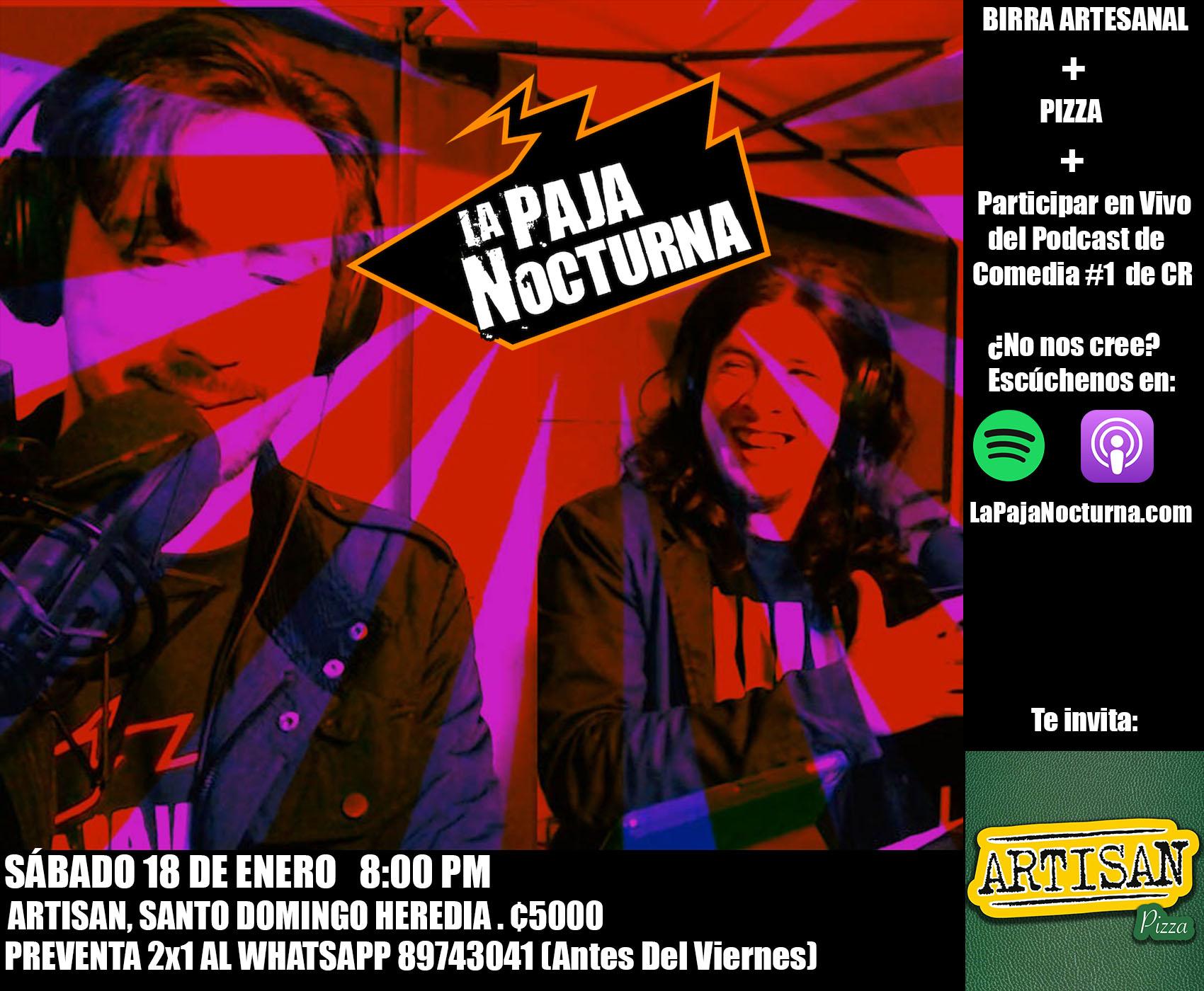 La Paja NocturnaPodcast En Vivo 18 Enero Artisan