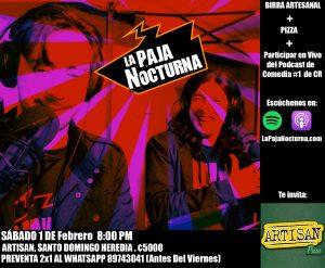 La Paja Nocturna Podcast 1 de Febrero en vivo